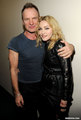 with Sting - madonna photo