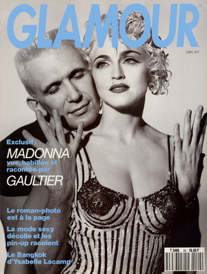 On the cover of ''Glamour'' with Jean Paul Gaultier 1990