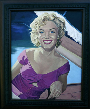 my first marilyn painting. on ebay right now