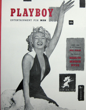 Marilyn On The Cover Of The 1953 Issue Of playboy