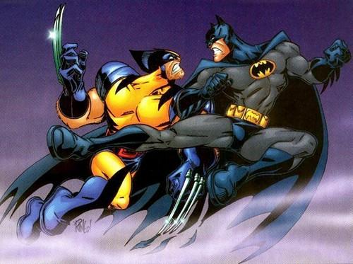 Marvel Comics VS. DC Comics fond d'écran containing animé titled Batman Vs Wolverine