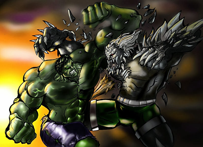 Marvel Comics VS  DC Comics The Incredible Hulk Vs DoomsdayHulk Vs Darkseid
