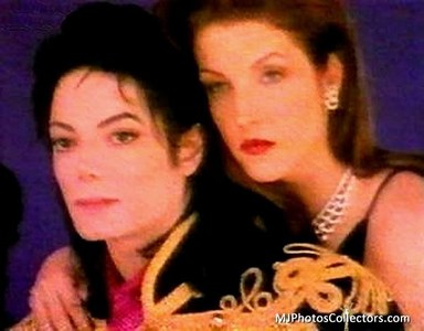 Michael Jackson and Lisa Marie wallpaper containing a portrait titled Michael and Lisa Marie Presley