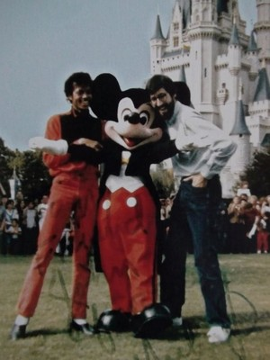 A Vintage Michael Jackson And John Landis Photo With Mickey Mouse