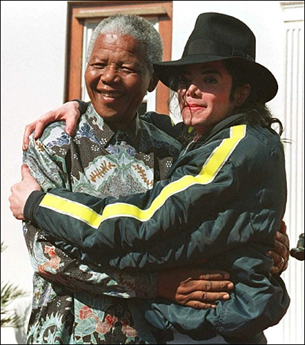 Michael Jackson and Nelson Mandela
