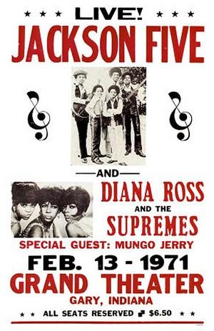 A Vintage Jackson concierto Poster From 1971