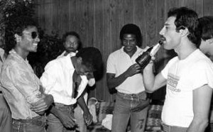 Michael Talking With Freddie Mercury