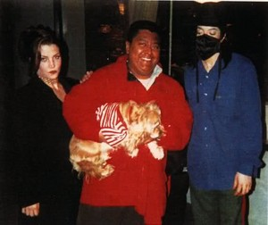 Michael With Lisa Marie And Fan