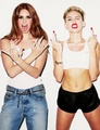Miley wid Lana Del Rey - miley-cyrus photo