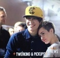 Miley wid Austin at the backstage - miley-cyrus photo