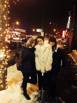 Miley wid her family