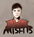 Iwan Rheon - Simon Bellamy - misfits-e4 fan art
