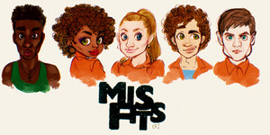 Misfits 1. season Fan art