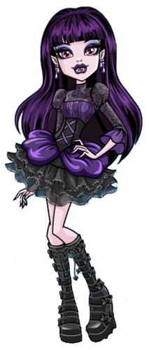 Monster High wallpaper with a red cabbage titled Elissa Bat Offical Art