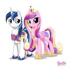 Princess Cadence and prince Shining Armor
