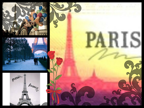 Paris achtergrond probably containing anime called My Paris Collage