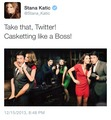 Stana's twitter-December,2013 - nathan-fillion-and-stana-katic photo
