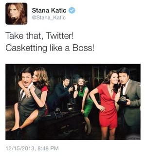 Stana's twitter-December,2013