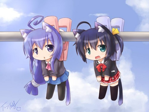 Neko anime Characters karatasi la kupamba ukuta called tsumiki-san