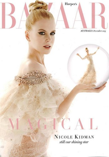 Nicole Kidman kertas dinding probably with a portrait titled Harper's Bazaar Australia December 2013