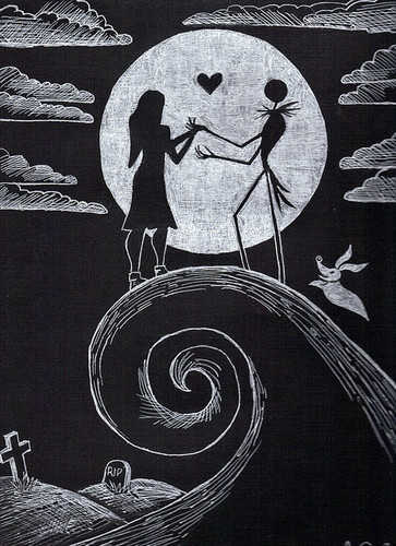 Nightmare Before Christmas wallpaper entitled Jack and Sally