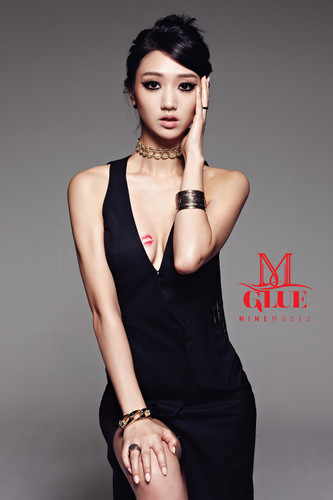 Nine Muses Обои possibly with a коктейль dress, tights, and a leotard entitled Nine Muses – Glue