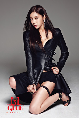 Nine Muses Обои containing bare legs, a bustier, and tights titled Nine Muses – Glue