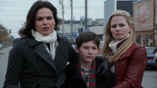 Once Upon A Time wallpaper called Regina, Emma, and Henry