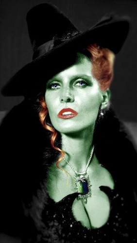 Once Upon A Time wallpaper possibly with a fedora, a beaver, and a campaign hat titled Rebecca Mader as The Wicked Witch of the West