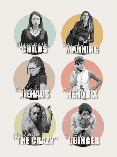 Orphan Black wallpaper possibly with anime entitled elizabeth-sarah-cosima-alison-helena-katia