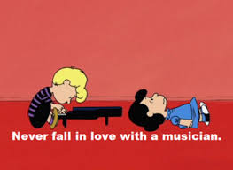 Never fall in l'amour with a musician