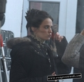 Eva Green on set
