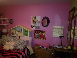 berwarna merah muda, merah muda bedroom