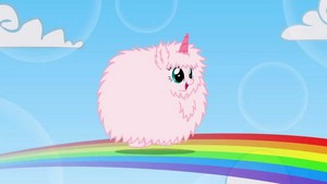 rosado, rosa Fluffy Unicorn