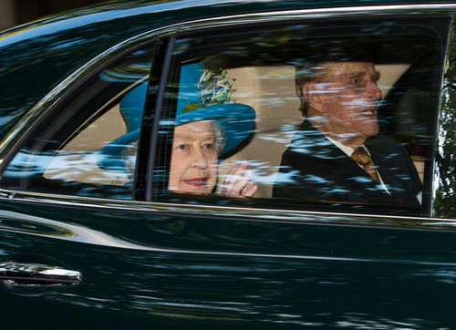 Queen Elizabeth II wallpaper probably with an automobile called Prince George of Cambridge Christened in London