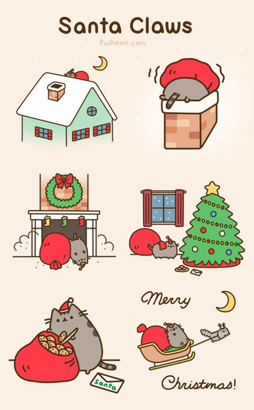 Pusheen The Cat Images Santa Claws By HD Wallpaper And