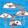 Clouds vomiting rainbows - random photo