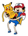 Pikachu and ash - random photo