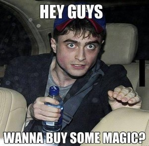 Harry potter wants to know if anda wanna buy some magic?