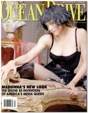 麦当娜 on Cover of Ocean Drive