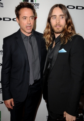 Robert Downey Jr. and Jared Leto at the 17th Annual Hollywood Film Awards