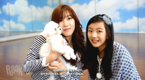 SM ROOKIES Обои possibly containing an outerwear and a portrait titled Lami with SNSD's Tiffany