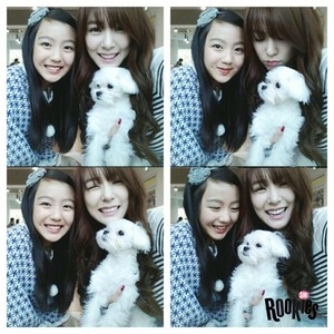 Tiffany selca with SM Rookies Lami