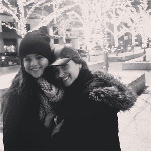 Selena Gomez spotted with Demi Lovato (December 10)