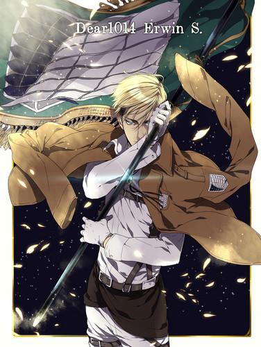 Shingeki no Kyojin (Attack on titan) wallpaper entitled Erwin Smith