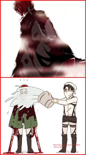 Levi cleans Armin