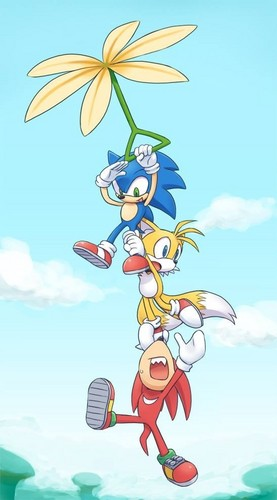 Sonic the Hedgehog wallpaper possibly containing Anime titled .:Over the Frog Forest:.