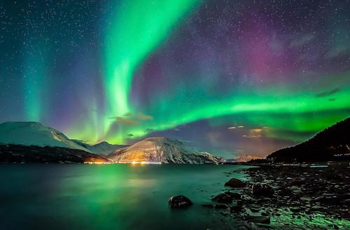 o espaço wallpaper titled Aurora Borealis