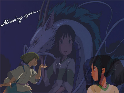 masigla ang layo wolpeyper with anime called Chihiro and Haku..♥