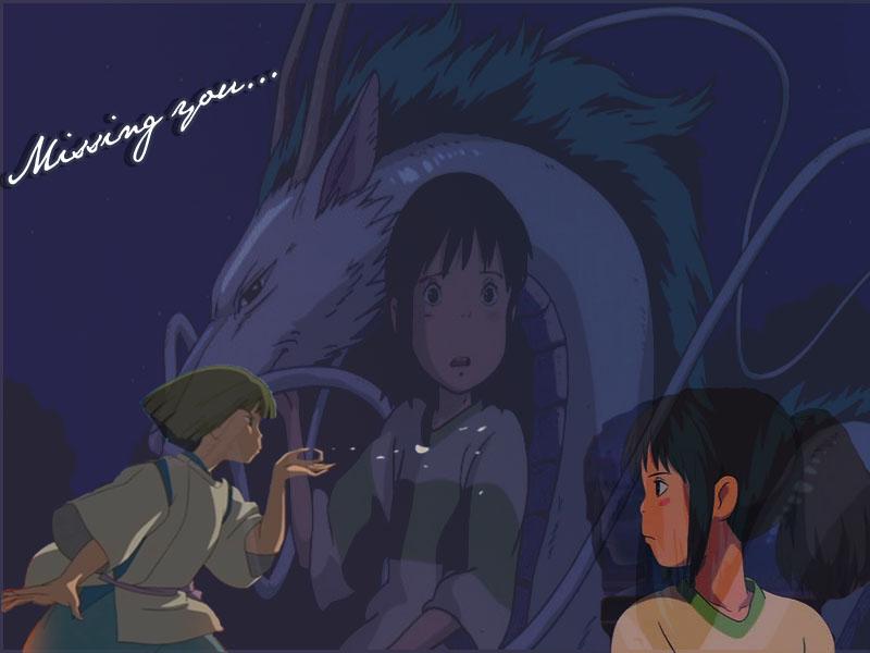 Chihiro and Haku..♥